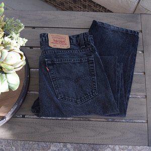 Vintage Levis 505 Black Jeans Men's Size 34 X 32